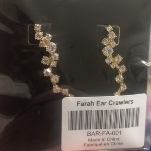 Bauble bar, Farrah ear crawlers! New in package!